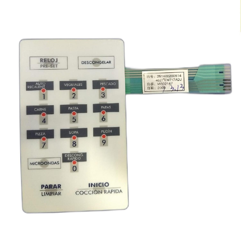 TECLADO MICROONDAS MO553 2514002005144621 EM717ADJ MS02147 2006 3.13 WHITE WESTINGHOUSE