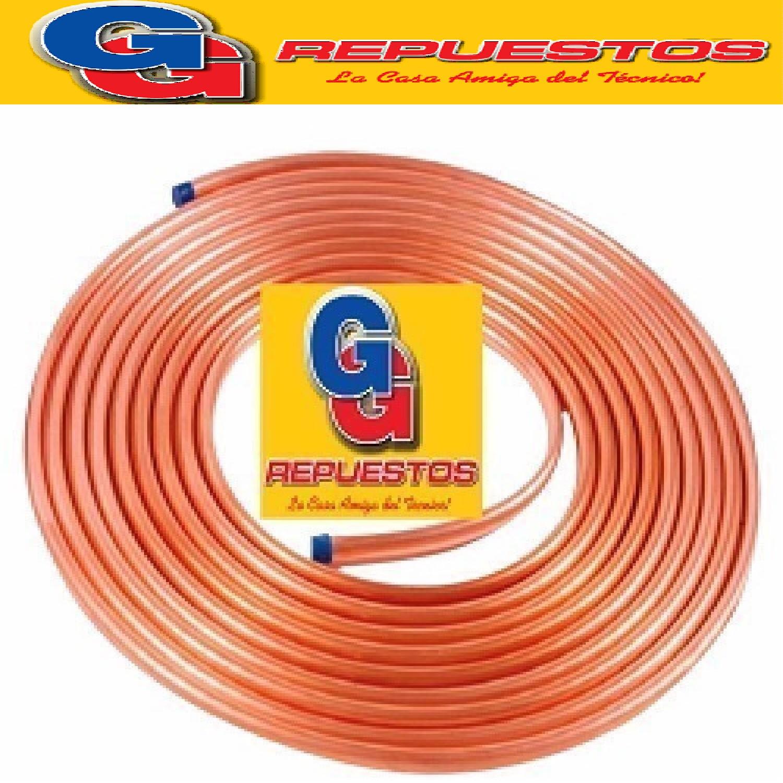 ROLLO CAÑO DE COBRE 1/4 15 MTS 0.80 mm (ESPESOR) ELUMA