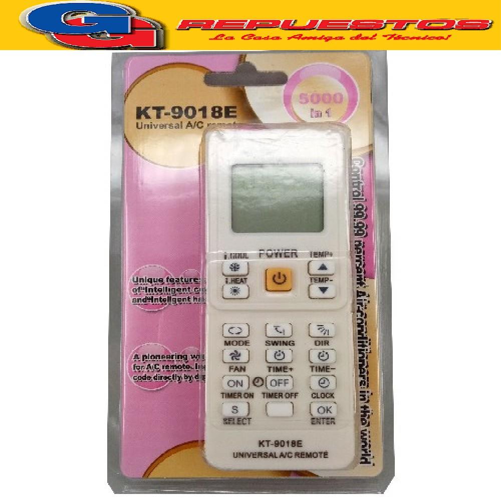 CONTROL REMOTO AIRE ACONDICIONADOKT9018 UNIVERSAL 5000 EN 1