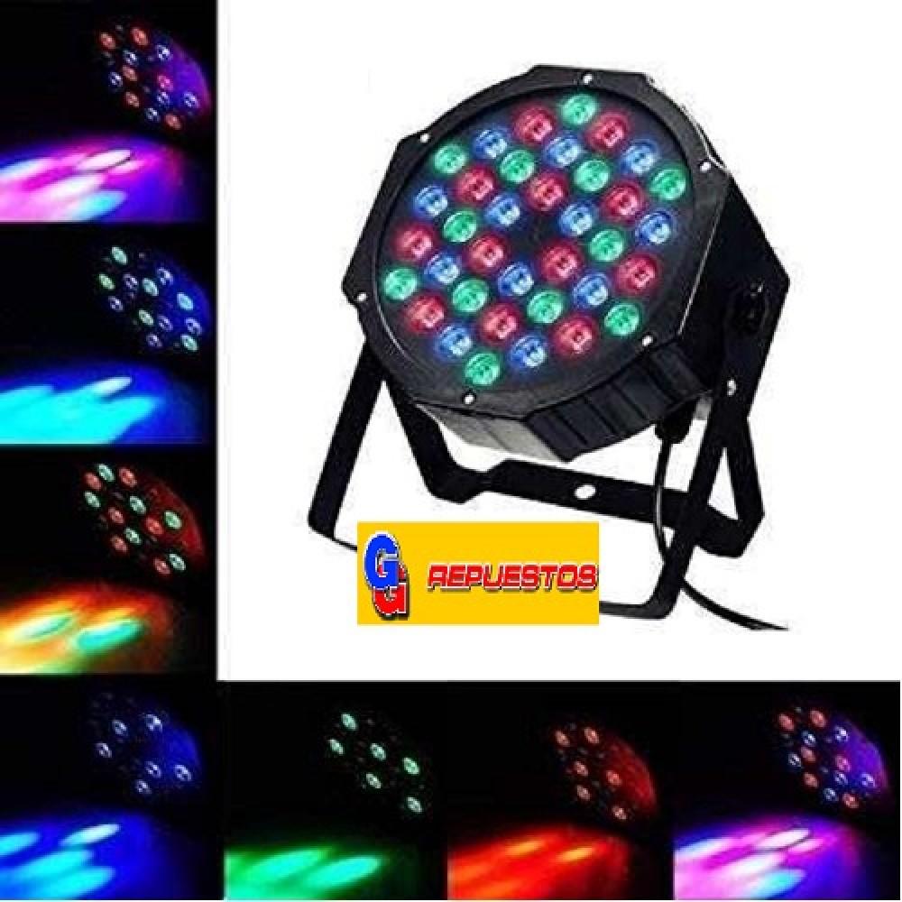 TACHO/BOLA/ RGB DE 36 LED LUZ TACHO PAR LED PROTON RGB PARA EVENTOS, SALONES, PELOTEROS, FIESTAS, ETC  PROGRAMABLE Y CONTROLABLE POR CONSOLA