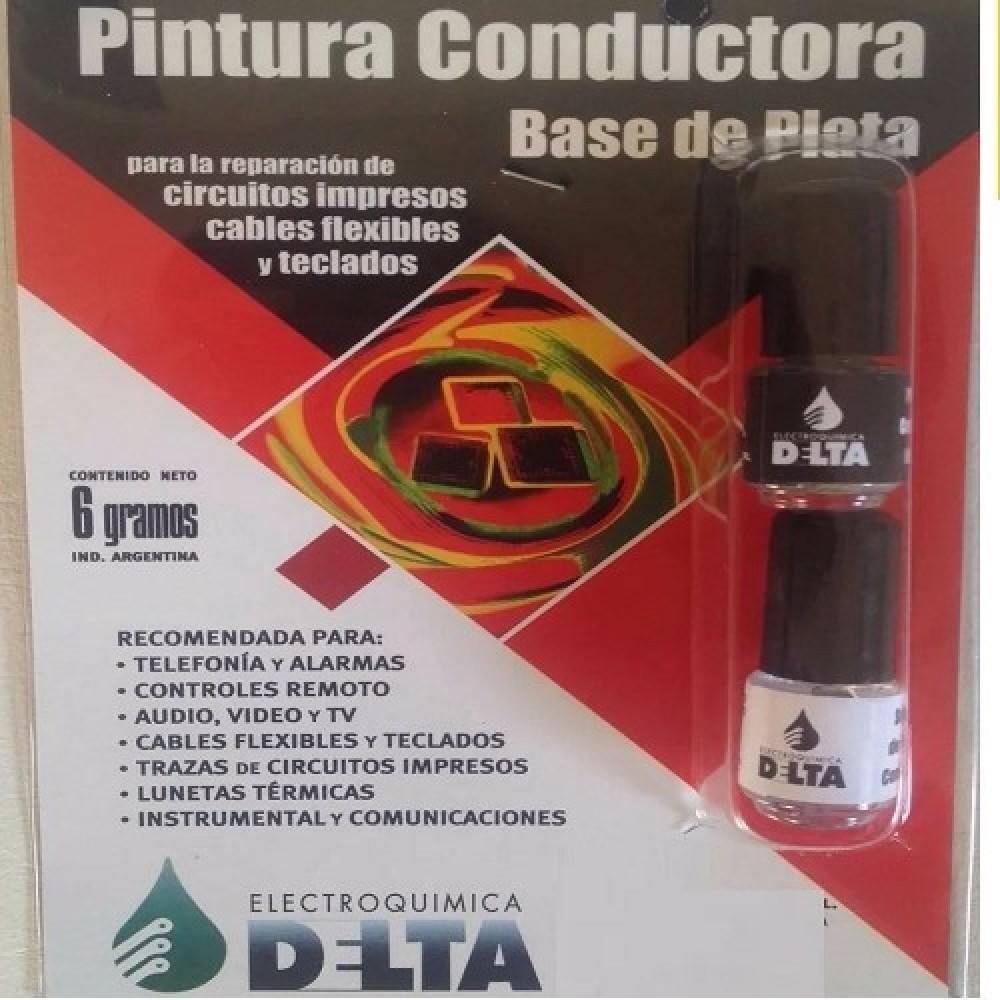 PINTURA CONDUCTORA (PLATA) 6 GR.