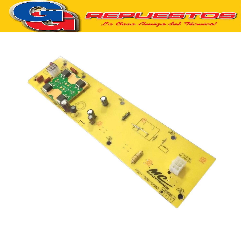 PLAQUETA MC LAVARROPAS GAFA 6500/7500 FASE 1 MODELO NUEVO EMPIEZA CON LAVADO ELECTROLUX ELS 7800 B