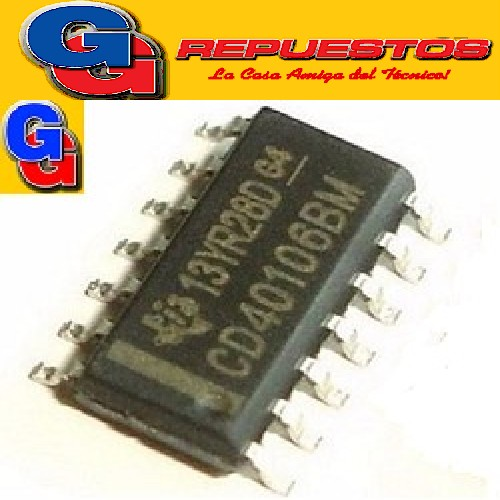 CD40106D - SEXTUPLE DISPARADOR SCHMITT TRIGGER (SMD)