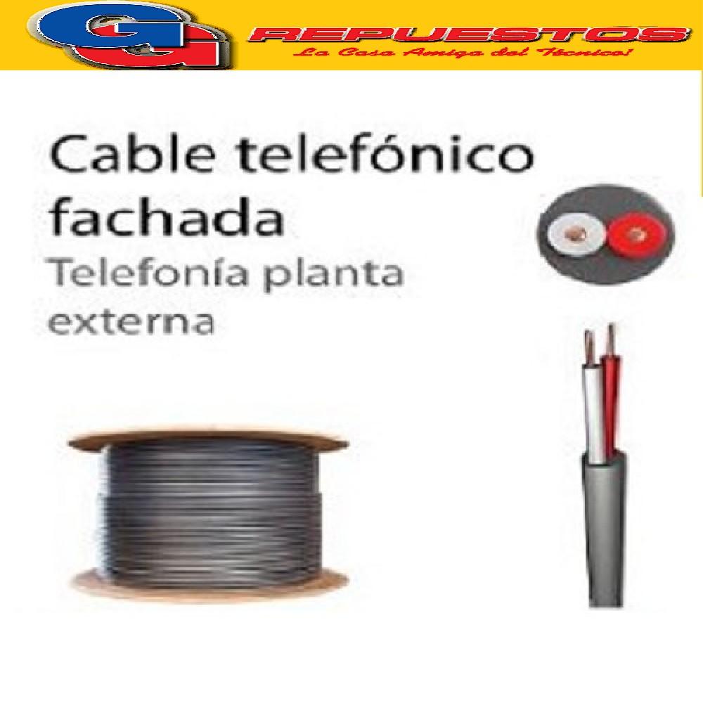 CABLE TELEFONICO 01 PAR POR METRO NEGRO INTERIOR EXTERIOR