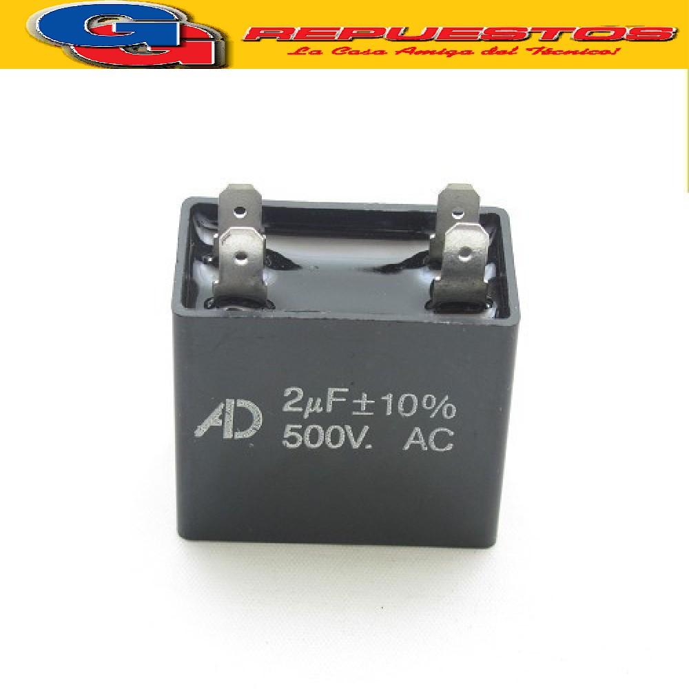 CAPACITOR 2uF X 450V CUADRADO C/PALAS CBB61(2X450)
