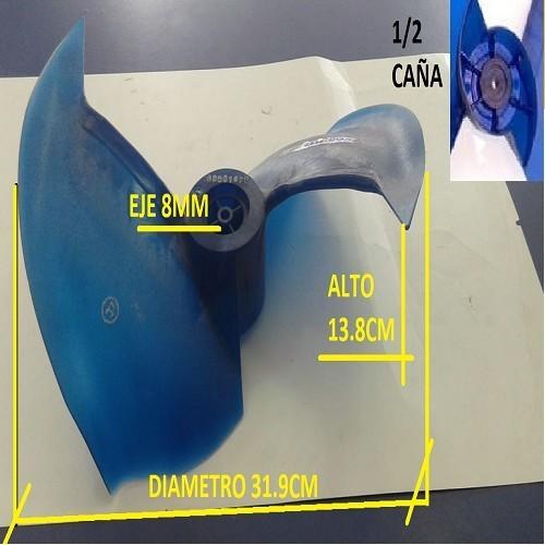 PALA HELICE CONDENSADORA AIRE SPLIT 31.9CM DE DIAMETRO EXTERIOR 13.8CM DE ALTO 8MM DE DIAMETRO INTERIOR MEDIA CAÑA
