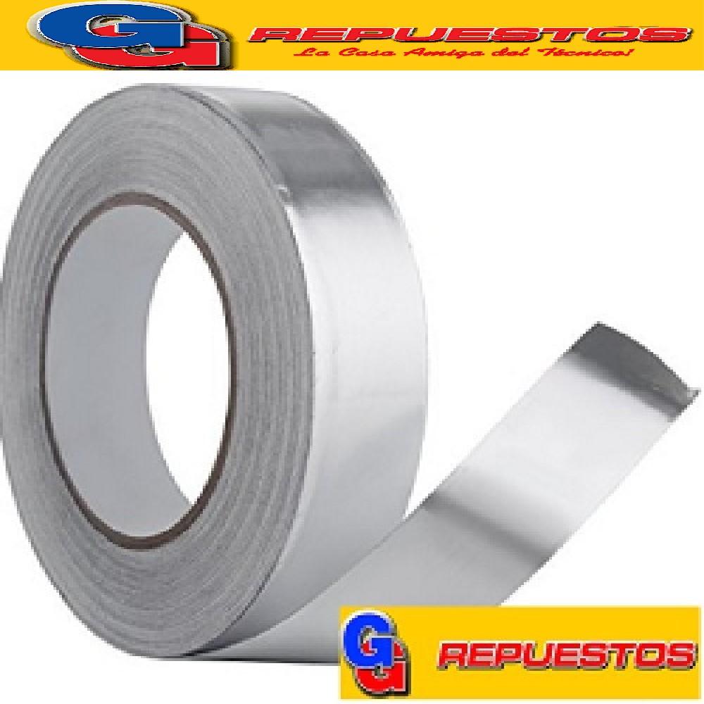 CINTA PARA REFRIGERACION DE ALUMINIO CON ADHESIVO DE 20M X 24MM DE ANCHO