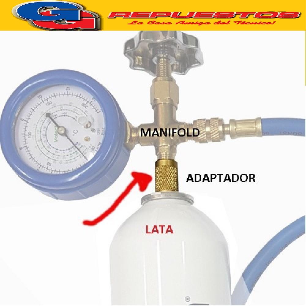 ADAPTADOR P/MANIFOLD R1/4 Y LATA HEMBRA A HEMBRA (SOLO ADAPTADOR SIN LATA NI MANIFOLD)