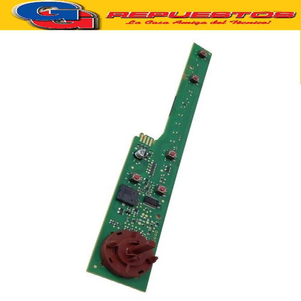 PLAQUETA  SUPERIOR DE MANDOS TIMER LAVARROPAS CANDY-LONGVIE .SMARTWASH L8010 de 8Kg/1000rpm- // L6510 6.5kg/1000rpm- // L6508 6.5kg/800rpm. L8012 8 KG 1200 RPM GC08652D/12 Candy GC 08652D-12   EVO 1283D-12 EVO 10653D-12  E SIN PLASTICO DE BOTONERAS   EVO1272DKARG-EVO1083D12-EVO10653D12 ITALIANO DE 8KG- GC08652D12-C08652D-EVOT1062D12-CYT1062D ARGENTINO (ORIGINAL con otra ESTETICA DE BOTONES) Cod.Origen: 41035005 C/SELECT BITRON REDI0601 REDI0601A 30412266 25599 45-12 41041466 REDI0603A_B 30413494
