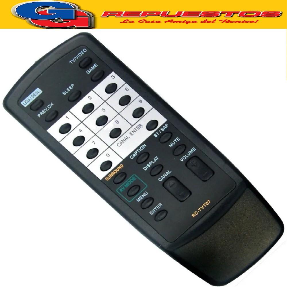 CONTROL REMOTO TV AIWA RC7VT07