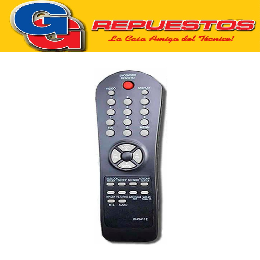 CONTROL REMOTO TV AUDINAC/ADMIRAL/SERIE DORADA/SHARP