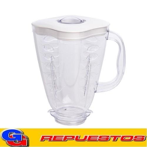 VASO JARRA PLASTICA TREBOL BLANCO LICUADORA OSTER MODELO BLSTMPB/BLSTMPW