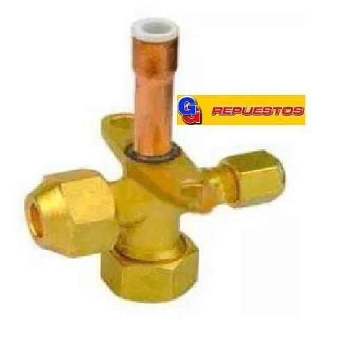 ROBINETE VALVULA DE SERVICIO SPLIT. (RECTA) 1/2 PARA GAS R22.