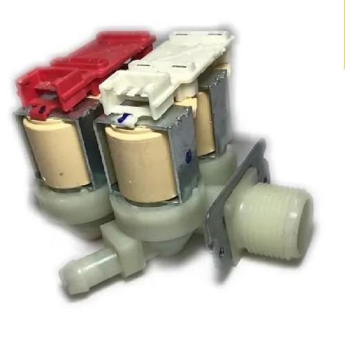 ELECTROVALVULA LAVARROPAS 4 VIAS CON BASE PARA FICHAS GENERAL ELECTRIC, MABE.