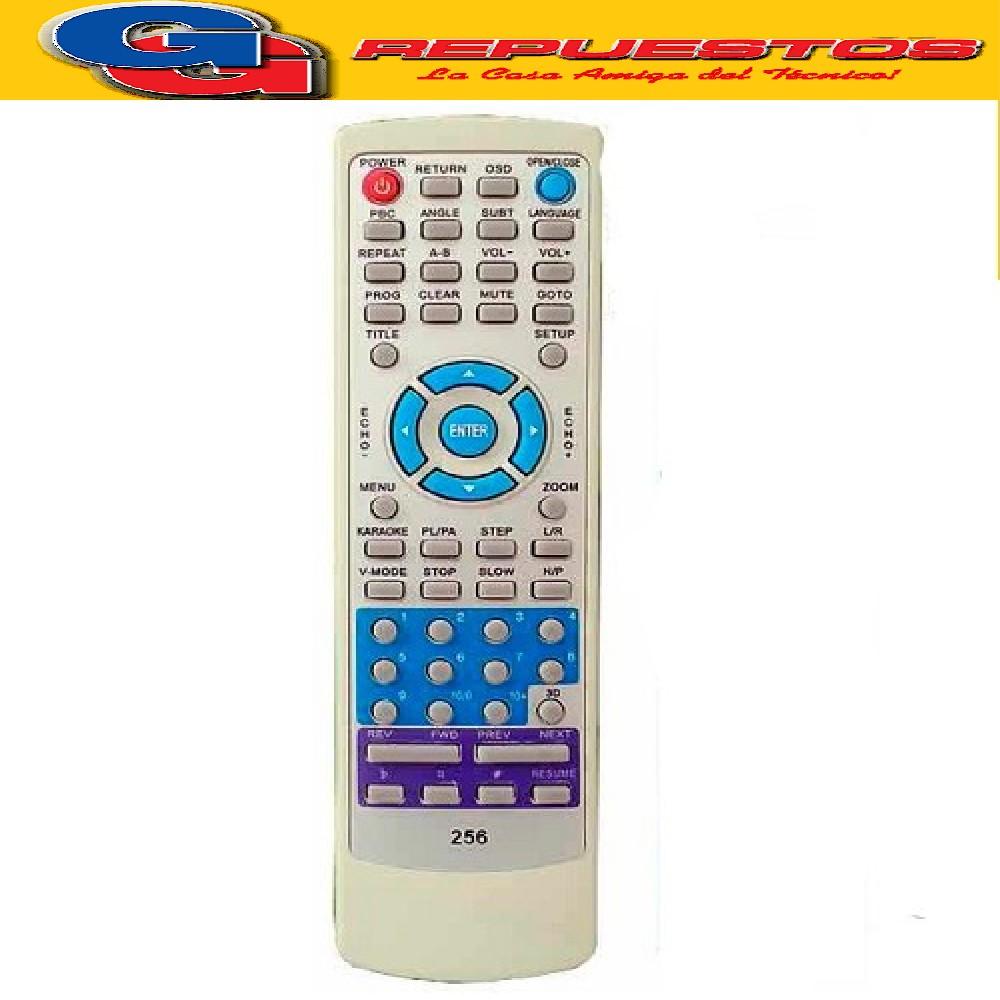 CONTROL REMOTO PARA DVD BLUESKY.
