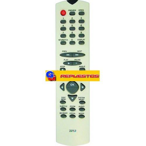 CONTROL REMOTO DVD ADMIRAL 2757