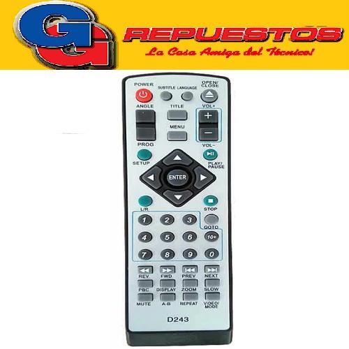 CONTROL REMOTO DVD BLUESKY (2797) MK TECH