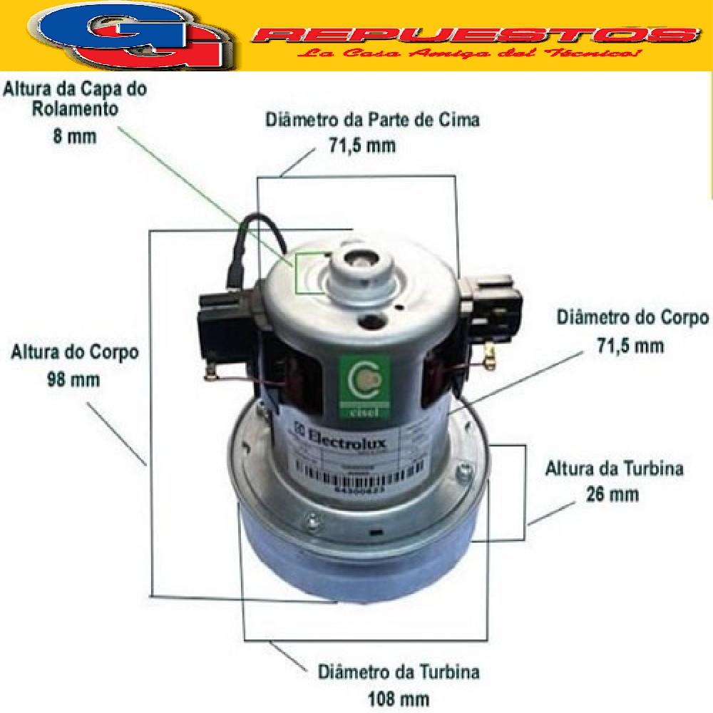 MOTOR ASPIRADORA CHICO ELECTROLUX TRIO