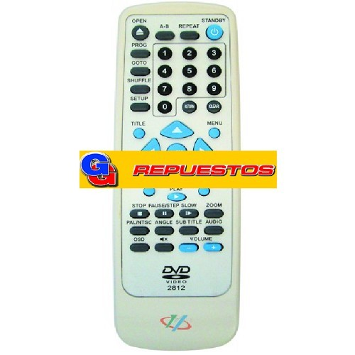 CONTROL REMOTO DVD TOP HOUSE 04 (2812)