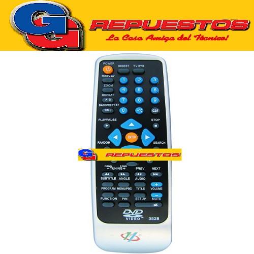 CONTROL REMOTO DVD RCA-DYNASTAR (3528)