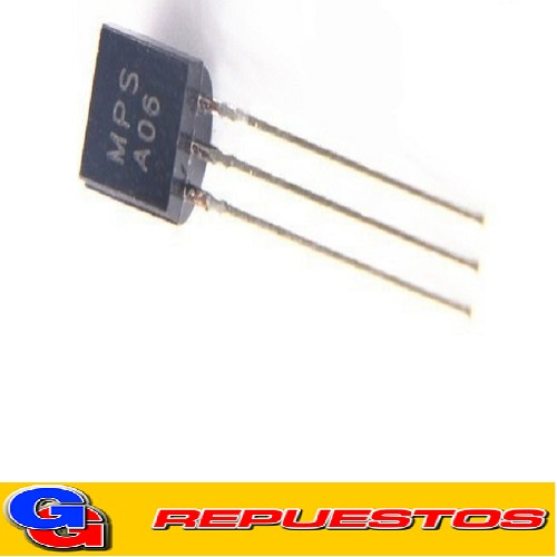 MPSA06 TRANSISTOR NPN (VOLTAGE C-B Y C-E 80V / E-B 4V / 0.5A / 100MHZ / HFE50)