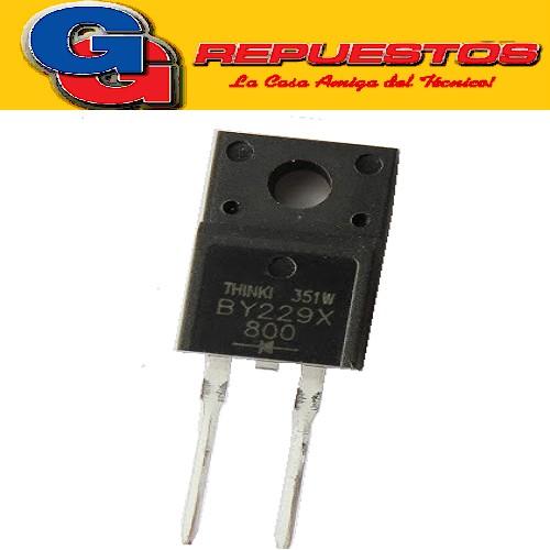 BY229X800 DIODO RECTIFICADOR DIFUSO DOBLE PASIVO 8A 800V