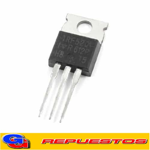 IRF520 TRANSISTOR MOSFET CANAL N 100V / 10A / 0.27ohm