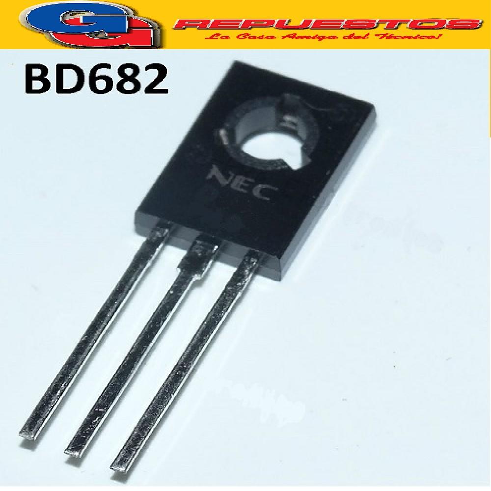 BD682 TRANSISTOR PNP DE POTENCIA (COMPLEMENTARIO DE BD681) 100V / 4A / 40W
