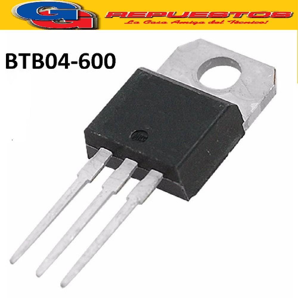 BTB04-600 TRIAC 600V/4A (IGUAL A BTA04-600 T/D/S/A Y BTB04-600  T/D/S/A)