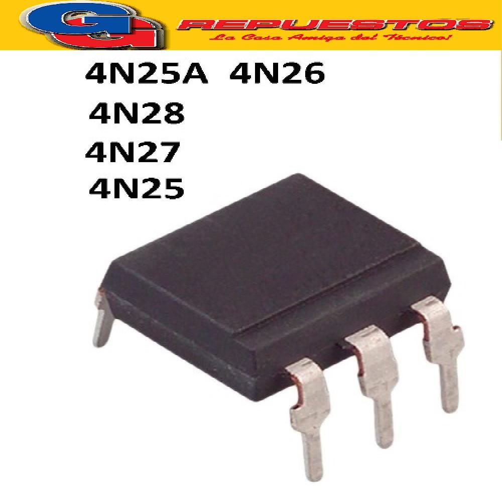 4N27 = 4N28 = 4N25 = 4N25A = 4N26 OPTO ELECTRONICA FOTOTRANSISTOR 70V/150MA/150MW