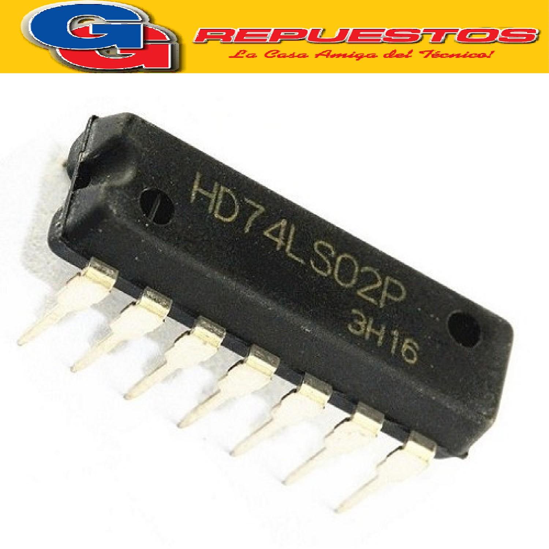 74LS02 CIRCUITO INTEGRADO COMPUERTA NOR 2 ENTRADAS 8MA / 5.25V