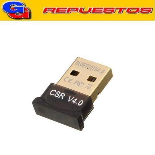 MINI ADAPTADOR BLUETOOTH USB DONGLE 4.0 ALCANCE 10-20MTS COMPATIBLE CON TECLADOS, MOUSE, AURICULARES Y OTROS