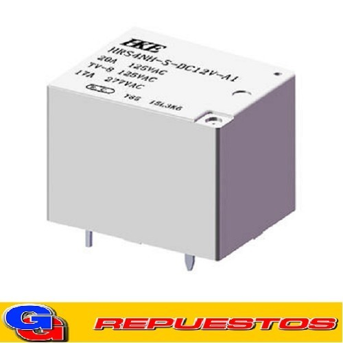 HRS4NH-S-DC12V / RELE RELAY BOBNINA 12V 0.36W (20A/250V) INVERSOR SIMPLE