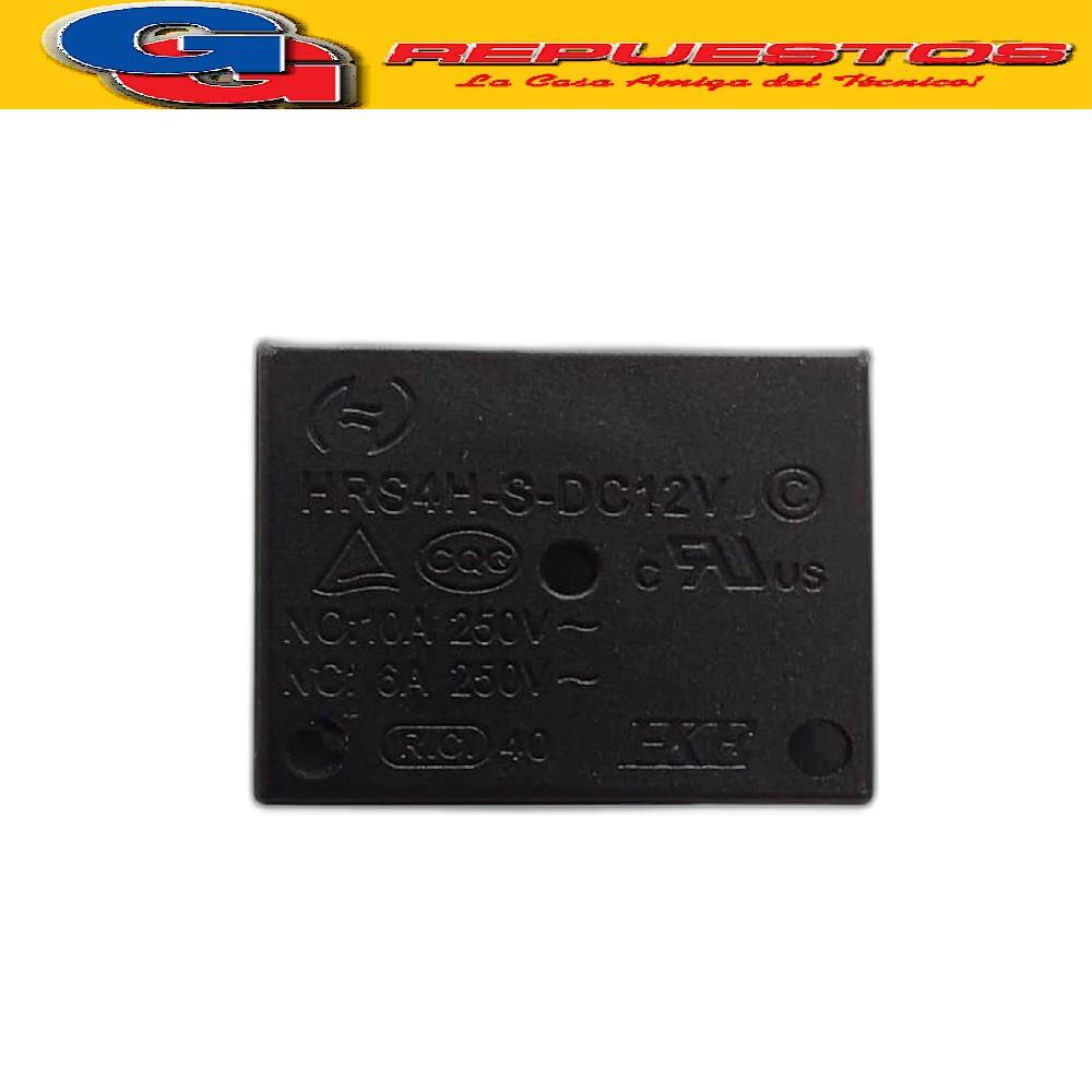 HRS4H-S-DC12V / RELE RELAY BOBINA 12V 0.36W (10A/250V) INVERSOR SIMPLE (CHICO)