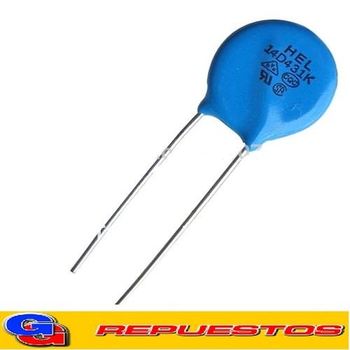 VARISTOR OXIDO METALICO 14MM 275VAC (14N431K/14D431K)