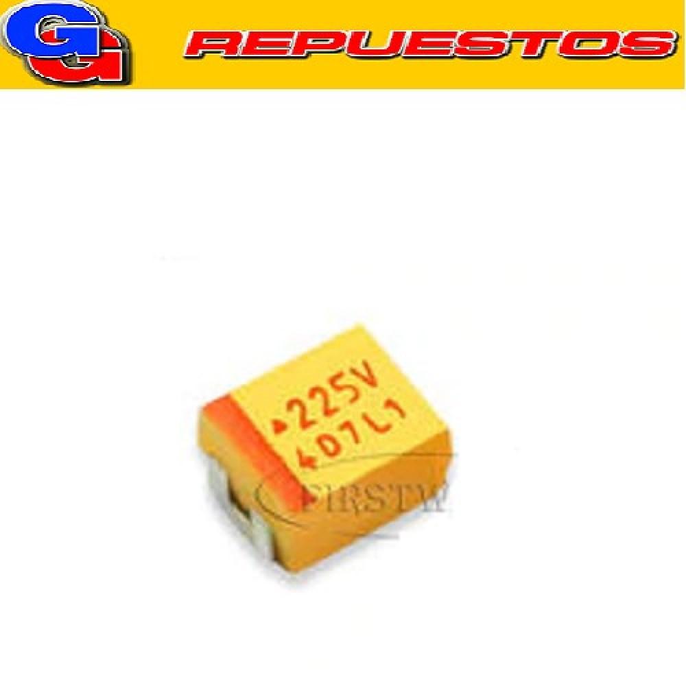 CAPACITOR TANTALIO SMD (1206) 2.2uF X 16V 20% A=3216