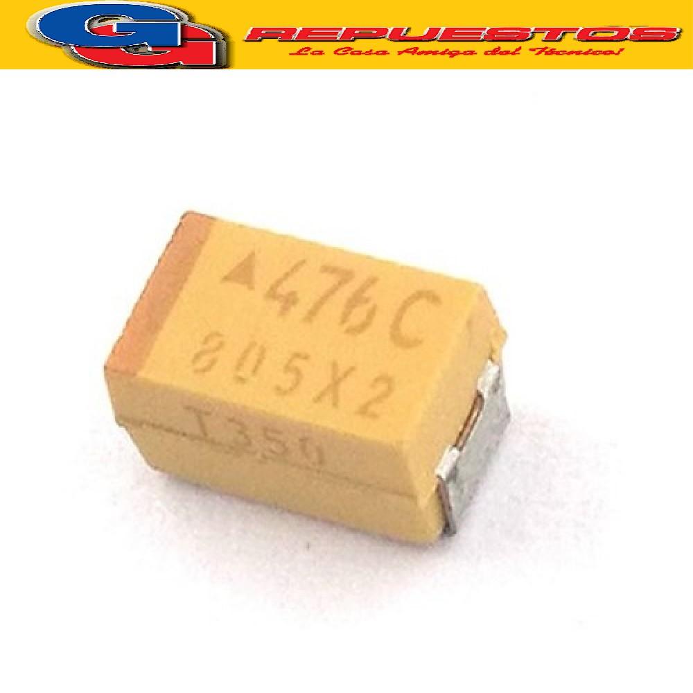 CAPACITOR TANTALIO SMD (2512) 47uF X 16V 20% C=6032