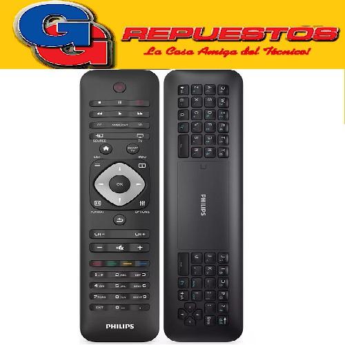CONTROL REMOTO SMART TV PHILIPS 4K QWERTY PHPHILIPS CON TECLADO EN LA PARTE TRASERA PARA INTERNET , ESTOS CONTROLES SE MANEJAN POR BLUETOOCH ,NECESITAN SER EMPAREJADO CON EL TV PARA QUE LO RECONOZCA , NO ES COMO LOS CONTROLES COMUNES QUE LE PONE SOLAMENTE LAS PILAS Y FUNCIONA, NO ES TAN FACIL A VECES TIENE QUE LLAMAR AL SERVICE PARA QUE LO REALICE