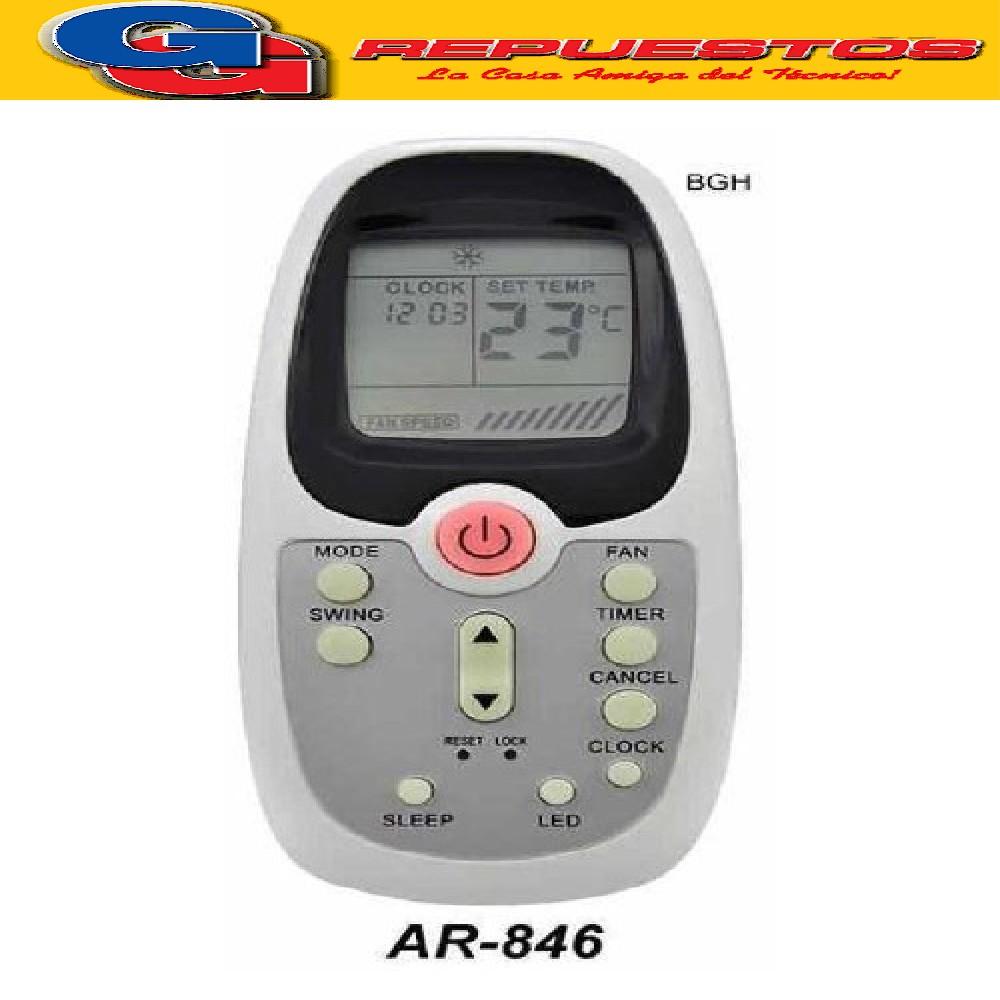 CONTROL REMOTO AIRE ACONDICIONADO BGH SILENT AIR R09D/BGCE