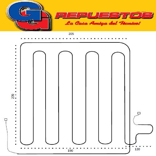 RESISTENCIA DE ALUMINIO HELADERA SAMSUNG SR 522 NO FROST 4607 220V 110W