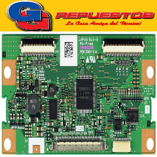 Plaqueta Tcon Lg32lv2500 Mdk336v 19100209 JAPAN 94V-0 PB-FREE 19100209 MDK 336V-0 W