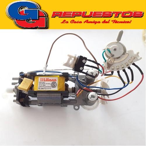 MOTOR BATIDORA CON ENGRANAJE,MICRO Y LLAVE DE VELOCIDADES APLICABLE A LOS MODELOS AB667 / AB668 / AB610 / AB620 / AB647 / AB657 / AB658 / AB659 / AB660 / AB661 / AB662 / AB663 / AB654 / AB665 /