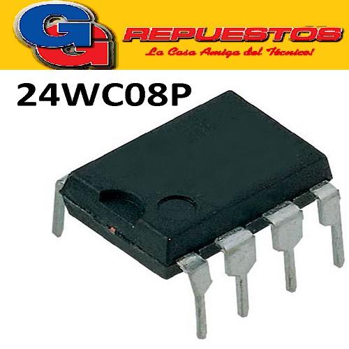 24WC08P CIRCUITO INTEGRADO MEMORIA  -DIP8- (6V/8KBIT/1MA)