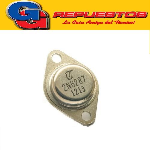 2N6287 TRANSISTOR PNP (100V/20A/160W) TO128 ((COMPLEMENTARIO DE 2N6284))