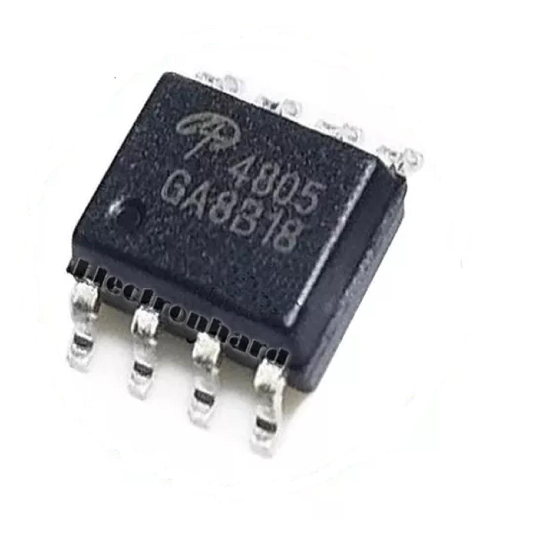AO4805 -SMD- CIRCUITO INTEGRADO MOSFET CANAL DUAL P (-30V/-9A/2W/15 Mohms)