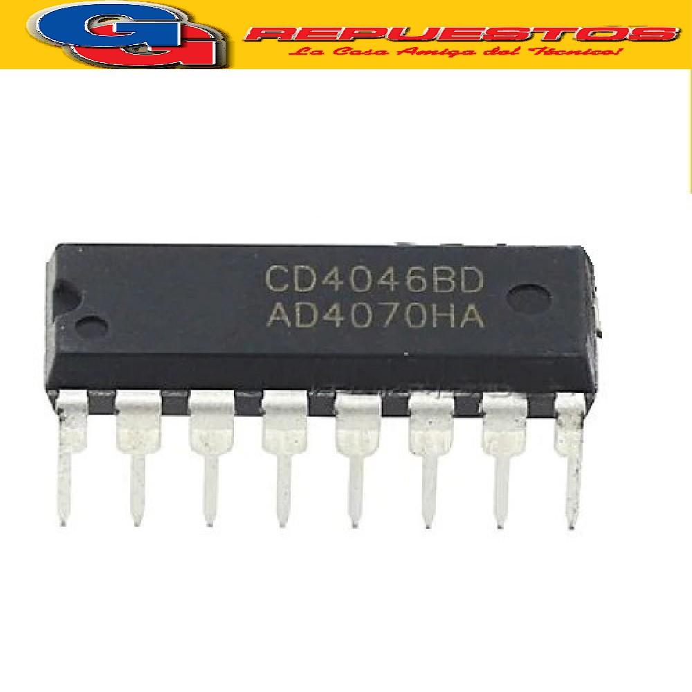 CD4046 CIRCUITO INTEGRADO -DIP16- (18V/500mW/10mA/10KHZ)
