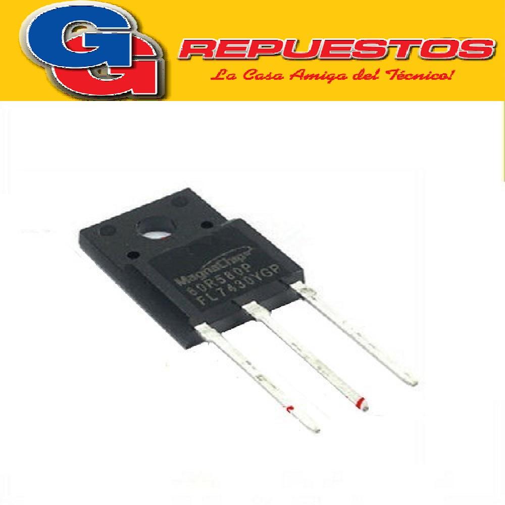 MMF60R580P TRANSISTOR FET CANAL N (650V/8A/0.58ohms/18nC) TO220F