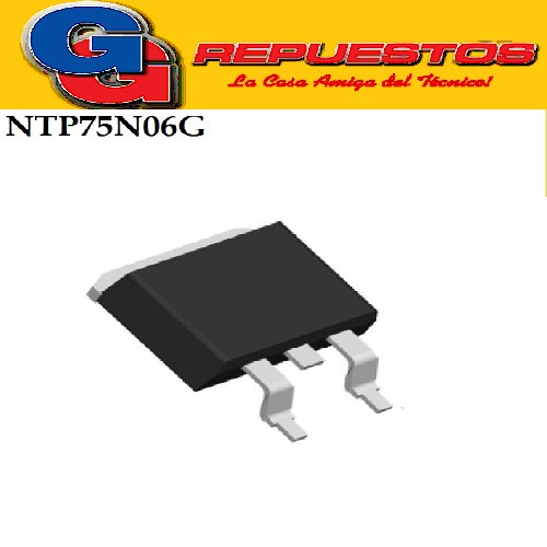 NTP75N06G/SUB7506 TRANSISTOR MOSFET -SMD- (60V/75A/9.5Mohms)
