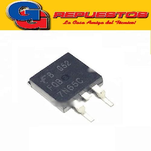 FQB7N65C TRANSISTOR MOSFET CANAL N -SMD- (650V/173W/7A/1.4ohms) D2-PAK