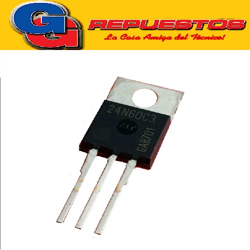 SPP24N60C3 TRANSISTOR MOSFET CANAL N (650V/24.3A/0.16ohms/240W) TO-220